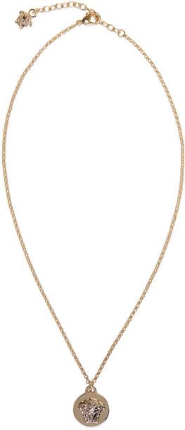 VERSACE necklace pendant gold jewels
