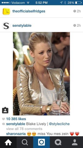 jacket blake lively gold jacker