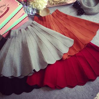 skirt burgundy grey skirt dress girl