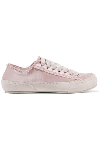 sneakers suede satin blush shoes