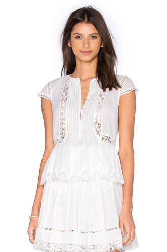 top short cotton white