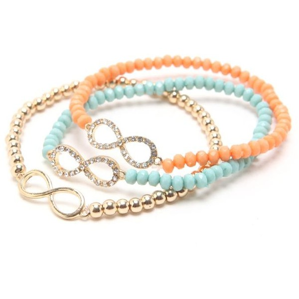 With Love From CA 3 Pack Pave Infinity Bracelets - Polyvore