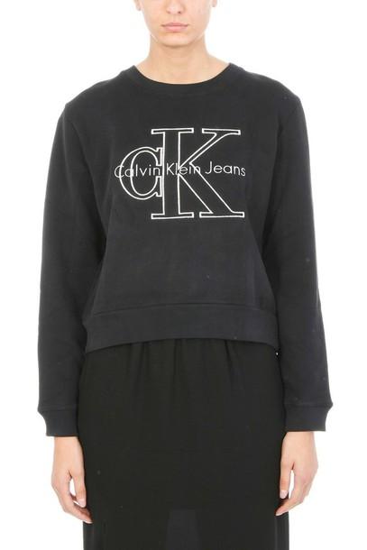Calvin Klein sweatshirt black sweater