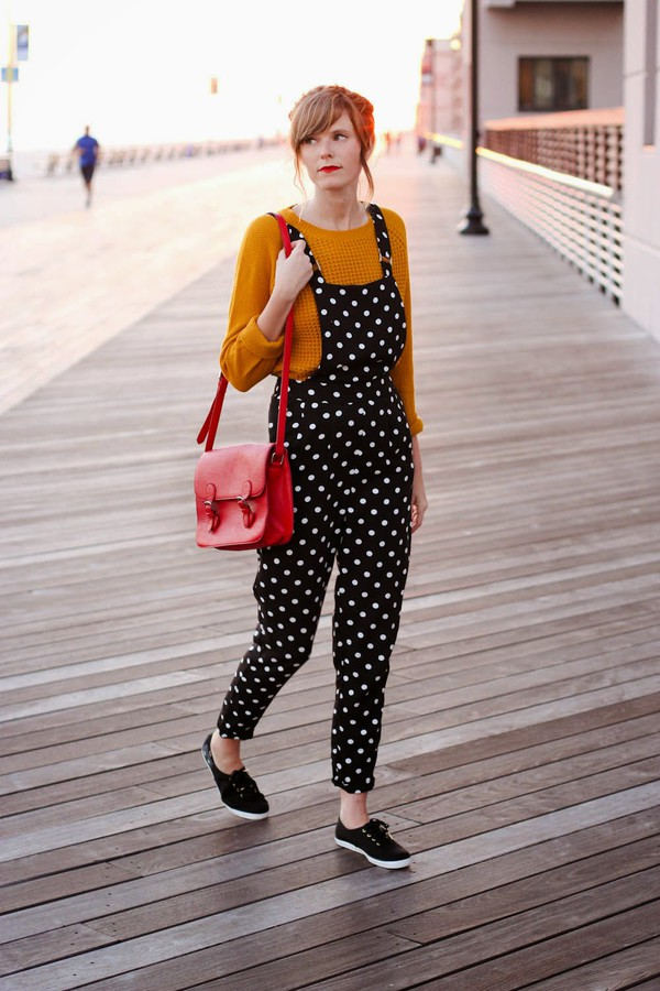 steffy's pros and cons blogger polka dots mustard