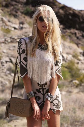 cheyenne meets chanel shoes jewels sunglasses bag dress