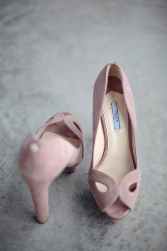 shoes prada style dusty pink high heels classy