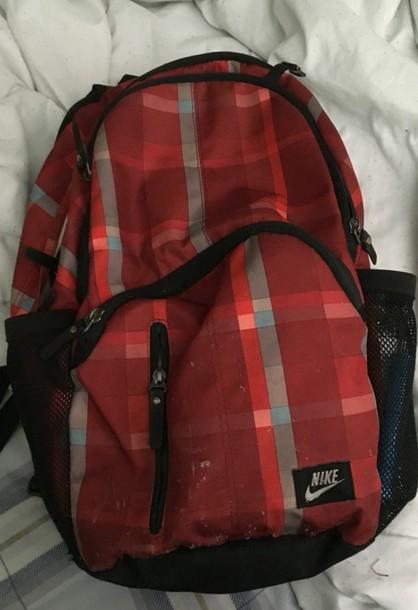 bag nike backpack stripes red