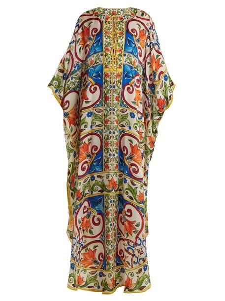 Dolce & Gabbana print silk satin top