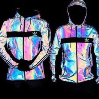 jacket windbreaker adidas colorful hoodie