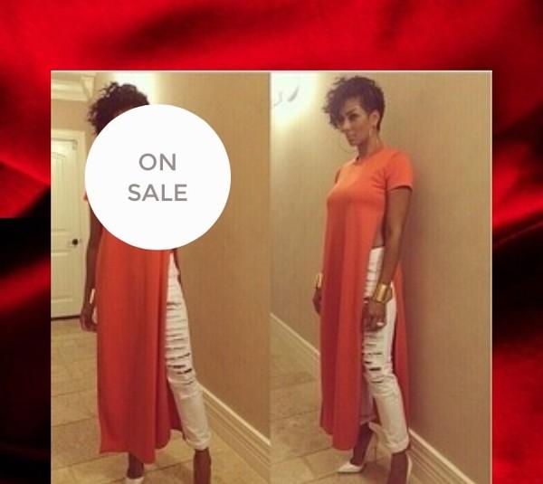 double side split dress