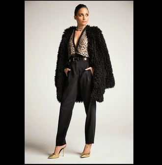 blouse leopard print animal print nicole richie fur fur coat fall outfits
