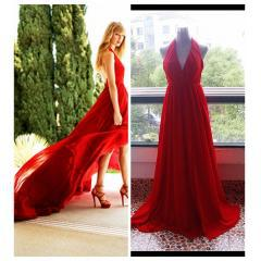 Taylor swift red halter prom dress cover of delta sky magazine_new arrivals(446)_celebrity dress online shopping prom dress