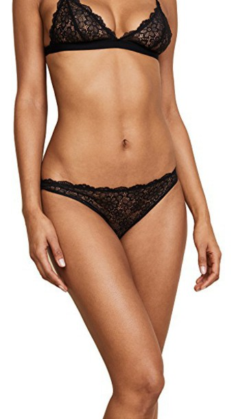 daisy lace black underwear