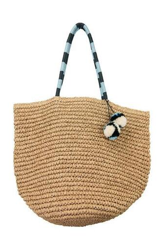 bag black blue brown fallon and royce tote bag