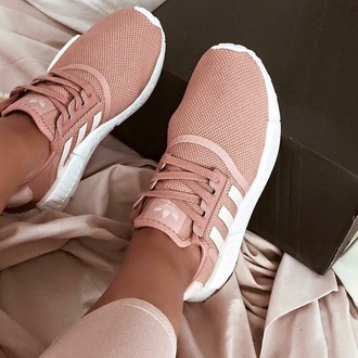 shoes pink and white adidas shoes