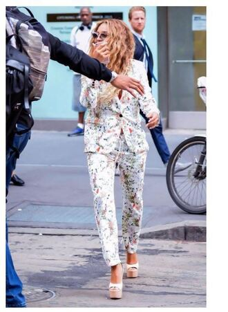 pants blazer wedges beyonce sunglasses suit jacket