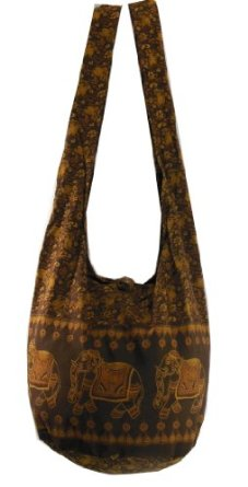 Amazon.com: Saddle Brown Hippie Boho Vintage Elephant Sling Cross body Shoulder Messenger Bag EB23: Clothing