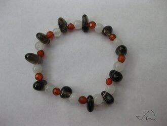 jewels crystal quartz quartz gemstone bracelets jade smoky quartz green jade red crystal red green brown