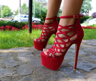shoes high heels redheels