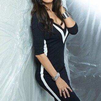 dress bodycon dress black and white sexy dress sweater dress rose wholesale style lookbook