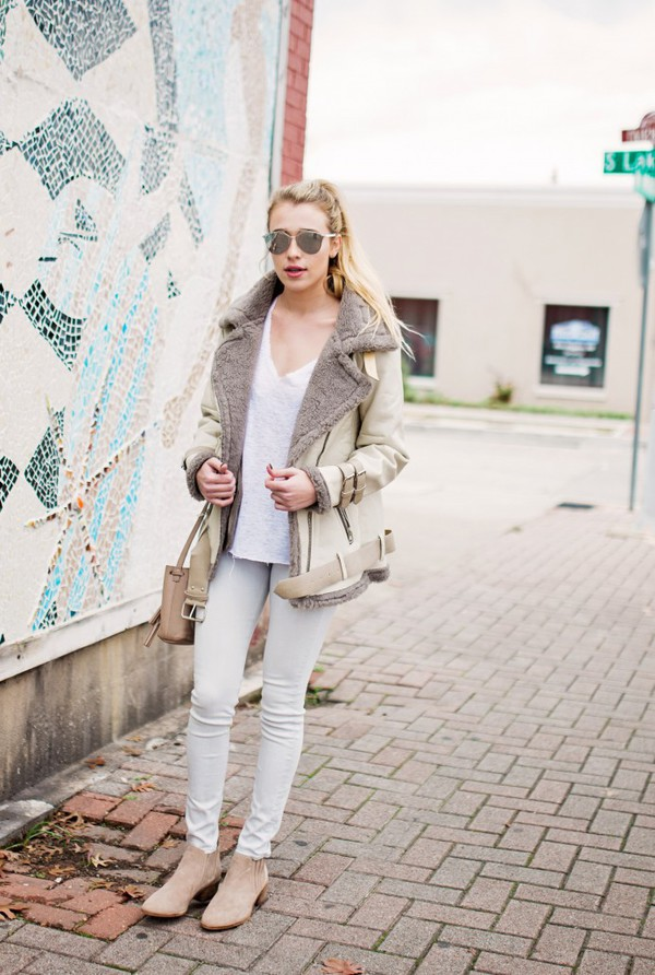 3dbc3681f Silence Noise Faux Shearling Aviator Jacket - Urban Outfitters