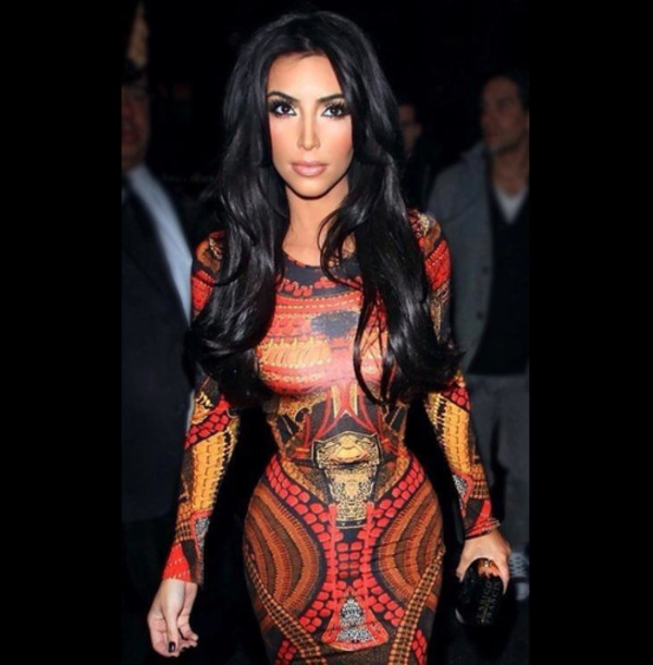 dress kim kardashian clothes red sexy kim kardashian dress long sleeve dress industry midi dress bodycon dress red dress yellow orange dress bodycon dress hollywood bandage dress full sleeve dress aztec kim kardashian dress