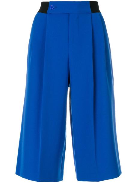 shorts long women spandex blue