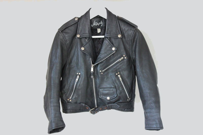 Murphy // cropped leather jacket / 10x10