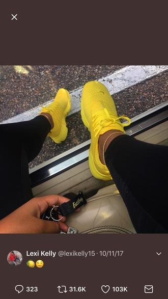 shoes yellow nike
