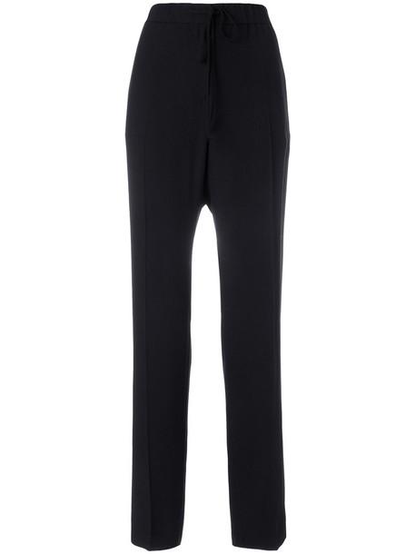 Jil Sander high women cotton black pants