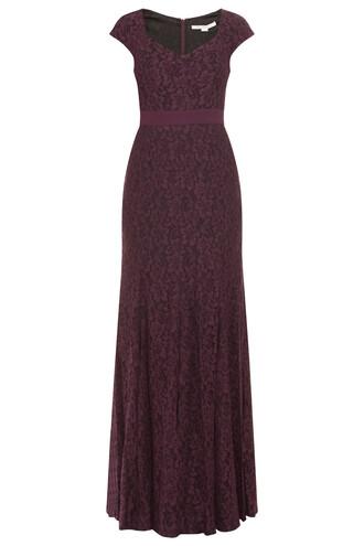 gown sleeveless purple dress
