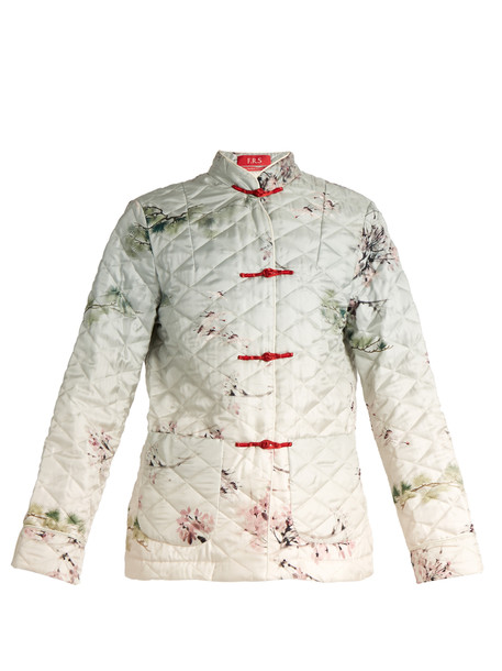 F.R.S - FOR RESTLESS SLEEPERS jacket japanese print silk white