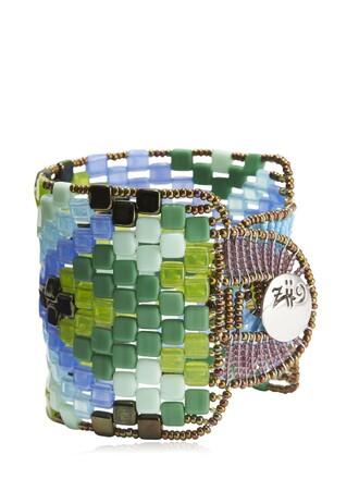 beaded bracelet beaded blue green jewels