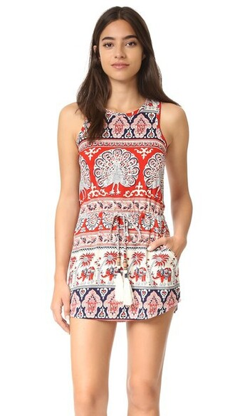 dress mini dress mini tapestry drawstring