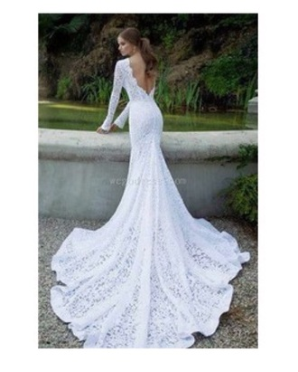 wedding clothes gown girl gorgeous mermaid length neckline shape