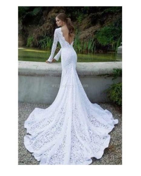 wedding clothes gown girl gorgeous mermaid length neckline shape