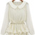 White Long Sleeve Lace Ruffles Chiffon Blouse - Sheinside.com