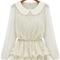 White long sleeve lace ruffles chiffon blouse - sheinside.com