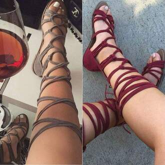shoes strappy flats flat sandals wine red shoes beige shoes flats sandals strappy tan red suede knee high grey burgundy shoes burgundy strappy sandals grey shoes red sandals sweater burgandy shoes suede shoes knee high gladiator sandals