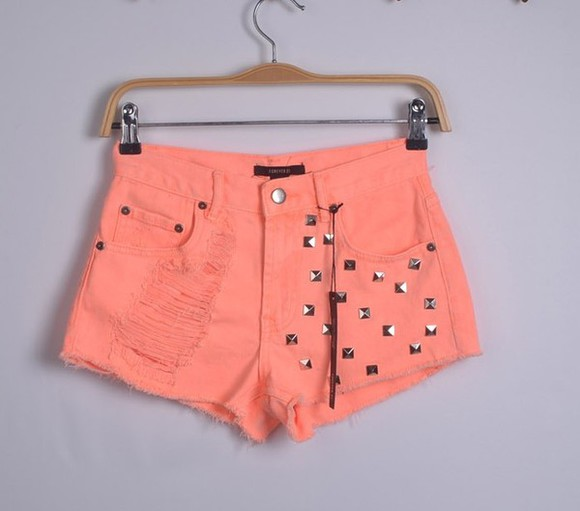rivet jeans fluorescence short pant short pants