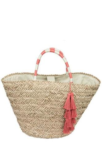 bag fallon and royce pink tote bag white bikiniluxe