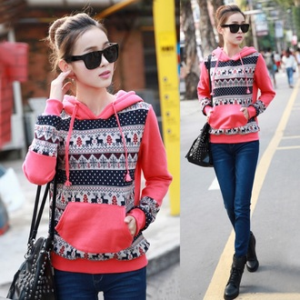 jacket aztec pink sweater cute pretty girly