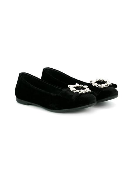 embellished black velvet shoes