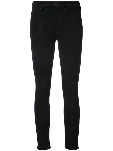 Mother jeans skinny jeans high women spandex black 24