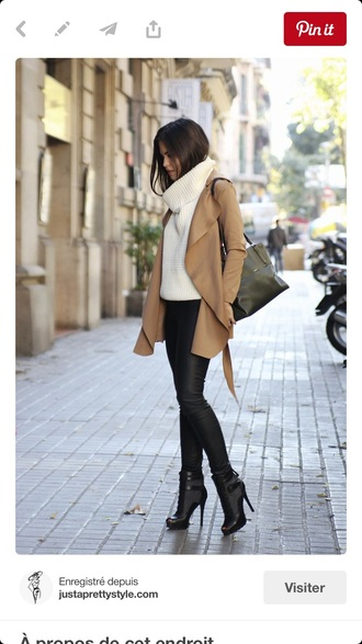 coat caramel winter outfits
