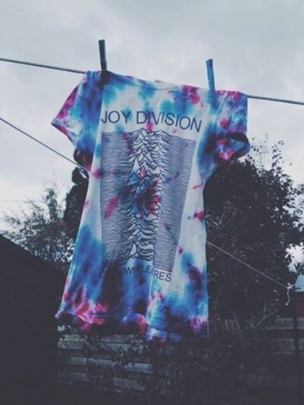joy division t-shirt tie dye shirt band t-shirt