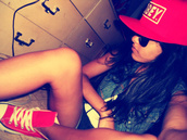hat,girl,blue,red