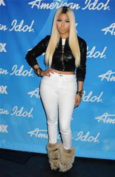 nicki minaj jacket shoes