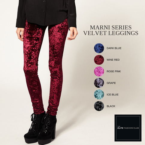 The Elite Fashion Club | TEFC Marni Series Velvet Leggings | Online Store Powered by Storenvy