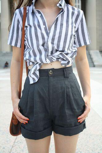 shorts highwaisted shorts pretty cute summer vintage gray